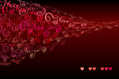 I love you words background. Valentines card Stock Images