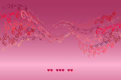 I love you words background. Valentines card Stock Image