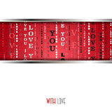 I love you words red background. Royalty Free Stock Photography
