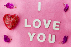 I love you words Stock Image