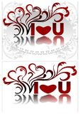 I love you. - You love me. Vector Royalty Free Stock Image