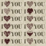 I love you3. I you love an inscription. A vector illustration Stock Image