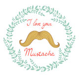 I love your mustach concept card Stock Images
