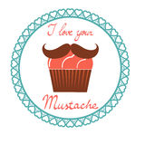I love your mustach concept card Royalty Free Stock Photo
