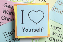 I Love Yourself written on a note Royalty Free Stock Photography