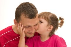 I love yoy, daddy! Stock Images