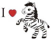 I love zebra Stock Images