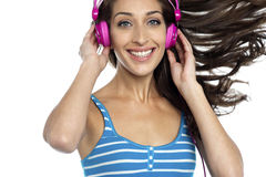 I am loving this music, are you? Stock Photo