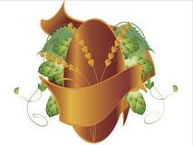 I luppoli piantano, frumento e nastro Immagine Stock