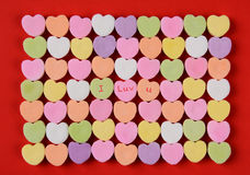 I Luv U on Candy Hearts Royalty Free Stock Photography