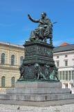 I máximo Joseph Monument em Máximo-Joseph-Platz em Munich, Alemanha Fotografia de Stock