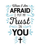 When I`m Afraid I Put my Trust in You vector illustration