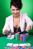 I'm all in! Royalty Free Stock Photo