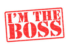 I`M THE BOSS Rubber Stamp Royalty Free Stock Image