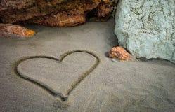 I ` m die een hart voor u trekken mijn liefde Stock Foto's