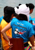 I'm the drummer. The Sun Life Stanley International Dragon Boat Championships was held at 6 June at Hong Kong Stanley Royalty Free Stock Photography