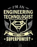 I`m an engineering technologist. Super design t-shirt I`m an engineering technologist royalty free illustration