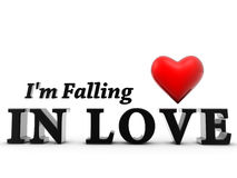 Im falling in love Royalty Free Stock Photography