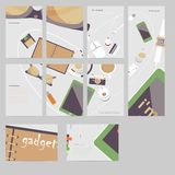 I'm fond of gadgets. Vector set Flat business Royalty Free Stock Images