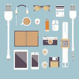 I'm fond of gadgets. Vector set Flat business Royalty Free Stock Photo