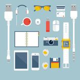 I'm fond of gadgets. Vector set Flat business Stock Image