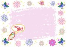 I'm a Girl Colorful Illustration Stock Photo
