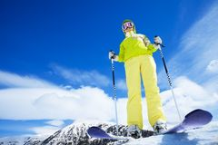 I'm the happiest skier ever Stock Image