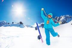 I'm so happy on my winter vacation Royalty Free Stock Photography