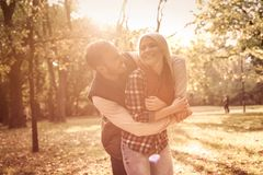 I`m happy when we`re together. stock photo