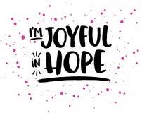I ` m joyeux dans l'espoir Photo stock