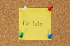 I'm late Royalty Free Stock Photography