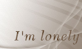 I'm lonely. Wallpaper and background Stock Images