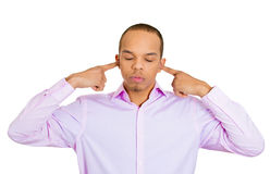 I'm not listening to you Royalty Free Stock Image