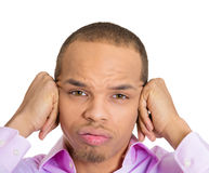 I'm not listening to you Royalty Free Stock Images