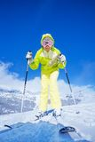 I'm one happy skier Stock Photography