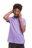 I'm at the phone right now! Royalty Free Stock Image