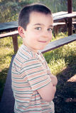 I'm positive. Portrait of the smiling boy Royalty Free Stock Photography