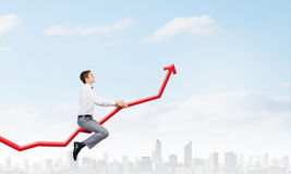 I'm reaching up to success! Stock Images