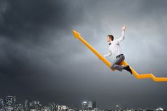I'm reaching up to success! Royalty Free Stock Photography