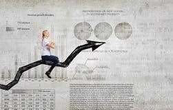 I'm reaching up to success! Stock Photos