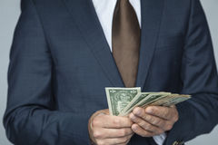 I'm so rich. Business man royalty free stock photos