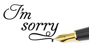 I`m sorry card Royalty Free Stock Image