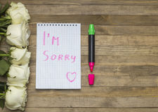 I`m sorry concept Stock Image