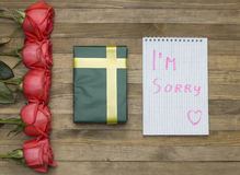 I`m sorry concept Stock Images
