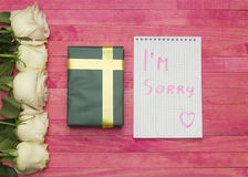 I`m sorry concept Royalty Free Stock Photos
