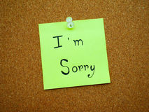 I'm sorry in post note Royalty Free Stock Photography