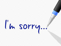 I'm Sorry Represents Regret Contact And Communication. I'm Sorry Meaning Communicate Message And Send Stock Images