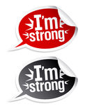 I `m sterke stickers. Stock Afbeeldingen