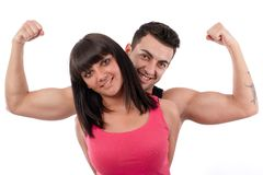 I'm stronger than women! Royalty Free Stock Image