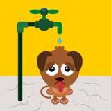 I'm thirsty stock illustration